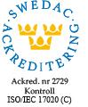 Swedac Ackreditering Certifikat